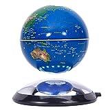 WXXW 6 Pulgadas Bola del Mundo Levitacion Azul Globo Magnetico para La Decoración del Escritorio de La Oficina en Casa Regalos Creativos