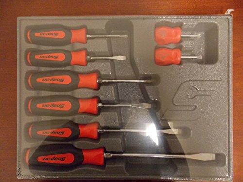 Snap-On 8 Piece Screwdriver Set, 5 Flats/3 Phillips, Part #SGDX80BR