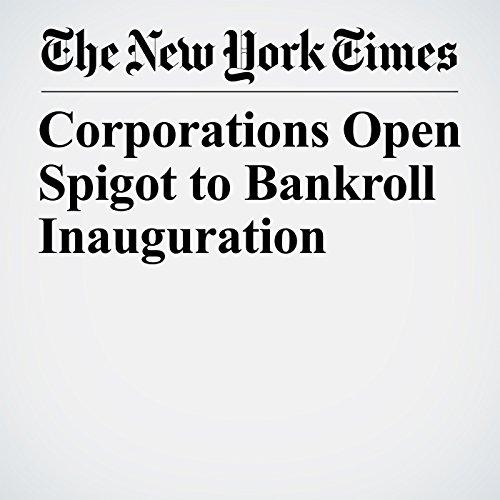 Corporations Open Spigot to Bankroll Inauguration copertina