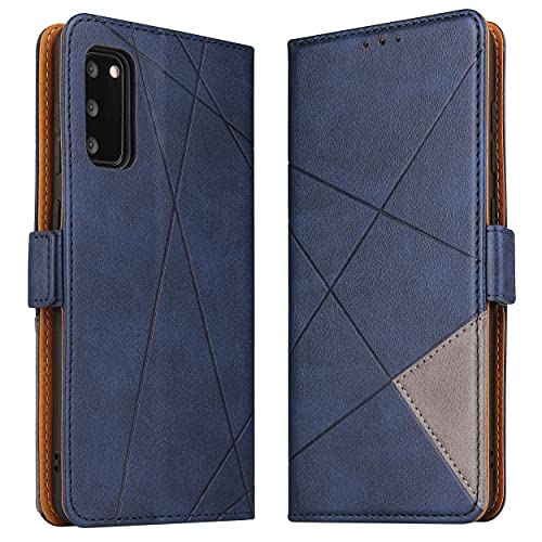 BININIBI Hülle für Samsung Galaxy S20 FE, Klapphülle Handyhülle Schutzhülle für S20 FE Tasche, Lederhülle Handytasche mit [Kartenfach] [Standfunktion] [Magnetisch] für Samsung Galaxy S20 FE, Blau
