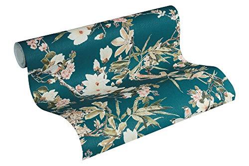 Michalsky Living Vliestapete Dream Again Tapete floral 10,05 m x 0,53 m blau grün rosa Made in Germany 364984 36498-4