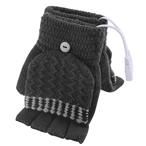 Tabpole USB Beheizte Handschuhe für Frauen & Männer Winter Elektrische Heizung Warme Sporthandschuhe Fäustling Volle Und Halbe Hände Warme Laptop-Handschuhe