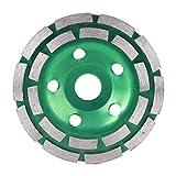 Muela abrasiva de copa de diamante de doble hilera, diámetro exterior 125 mm, diámetro interior 22,2 mm para corte más pesado de hormigón, granito, piedra, mármol, disco de amoladora angular, herramie