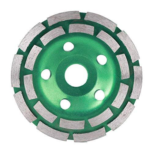 Zweireihige Schleifscheiben Diamanten Schleifscheibe Scheibenpolierwerkzeug für Betonmauerwerk Granit Marmor 125x22,2 mm