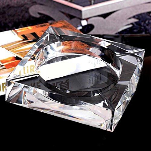 cendrier Xuan - worth having Modèles transparents carré Personnalité créative Cadeau de mode verre Cristal Décoration de salon (taille : 20*20*4cm)