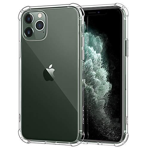 MoKo Kompatibel mit iPhone 11 Pro Max Hülle, Kristall Durchsichtig Klar Ultra Slim TPU Handy Schutzhülle Schale Handyhülle Hülle für iPhone 11Pro Max 6.5 Zoll 2019 - Transparent