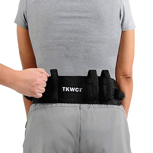 Transfer Belt with Handles by TKWC INC - #2305 - Lift Gait Belt with Quick Release Locking Buckle Safety Gate Belt 55' Strap
