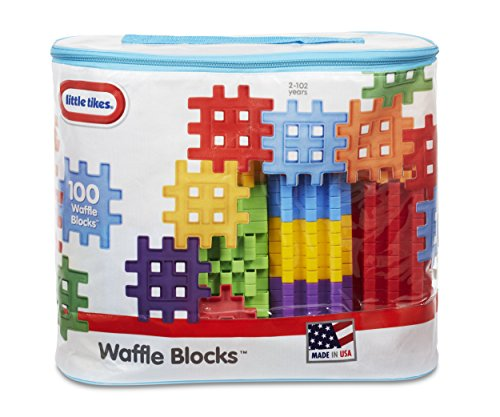 Image of Little Tikes Waffle Blocks Bag (100 Piece)