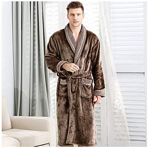 ZHANG badjas, lange microvezel volwassen dressoir met capuchon voor mannen kleding - dressoir met 2 zakken, riem en opknoping lus - zacht en comfortabel
