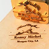 """Custom Logo Wood Branding Iron,Durable Leather Branding Iron Stamp,BBQ Heat Stamp Including The Handle,Saw Blade Design Stamp (1.5x1.5"""")"""