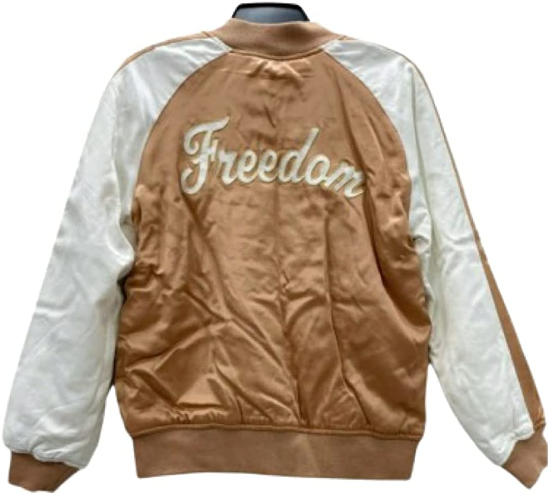 Bomber Jacket Women's Freedom Satin Zip Up