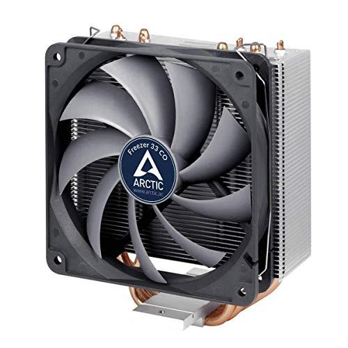 ARCTIC Freezer 33 CO - Semi-passiver Tower Prozessorkühler für 24h-Betrieb, CPU-Kühler mit 120 mm PWM Prozessor-Lüfter für Intel & AMD Sockel, empfohlen TDP bis 150 Watt, max. Leistung, sehr leise