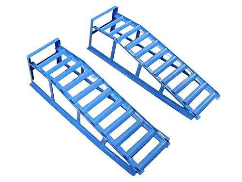 Coppia di rampe per auto, portata di 2000 kg,...