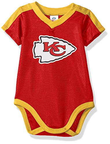 Kansas City Chiefs NFL Infant Playmaker 3 Piece Onesie Set-Red-24 Months
