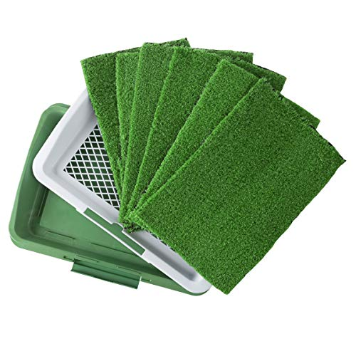 PETMAKER Puppy Potty Trainer with 5 Replacement Turf Pads - Artificial Grass Mat Tray for Indoor Toilet Training and Housebreaking