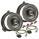 tomzz Audio 4034-004 Lautsprecher Einbau-Set passend für Mercedes E Klasse W211 CLS C219 165mm Koaxial System TA16.5-Pro