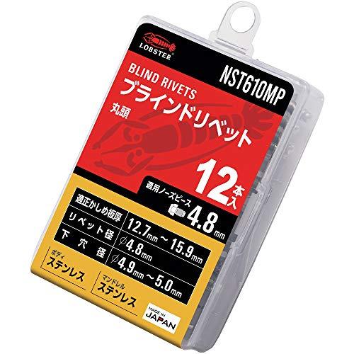 ロブテックス(エビ) ブラインドリベット エコパック ステンレス/ステンレス 6-10 (12本入) NST610MP