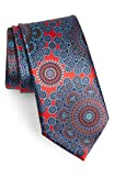 Men's Ermenegildo Zegna Quindici + Quindici Medallion Silk Tie, Size Regular - Red