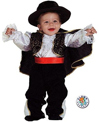 Clown Republic- Petit Don Diego Costume, CS59612/12, Multicolore, 12 Mois