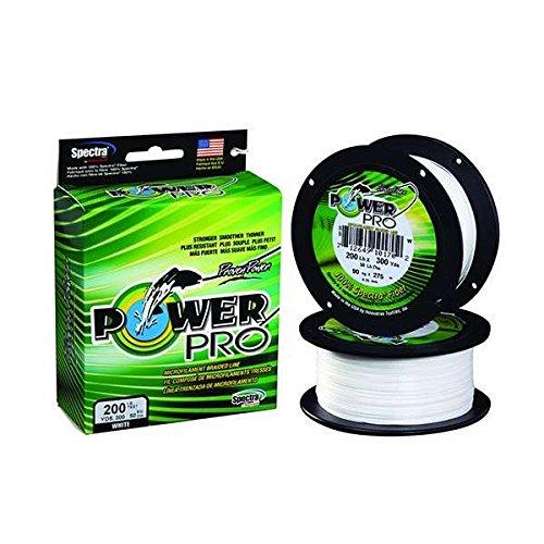 Power Pro Spectra Fibre Tressé Ligne de pêche blanc 300YD//30LB