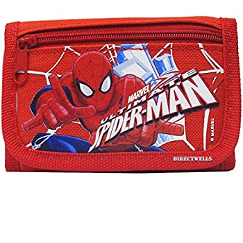 Marvel Spiderman Ultimate Authentic Licensed Trifold Children Wallet  Red