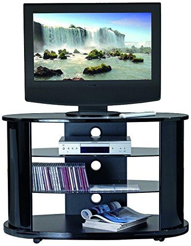 Terraneo Gold 191 mobiele tv-kast goud/zwart