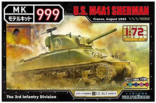 ウォルターソンズジャパン 1/72 モデルキット999シリーズ アメリカ軍 M4A1シャーマン 色分け済みプラモデル...