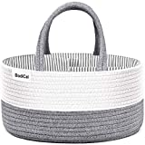 Diaper Caddy Organizer -Cotton Rope Nursery Changing Table Storage Basket Organizer for Baby Boys Girls Shower Gifts -Newborn Essentials Must Haves,Baby Registry Basket