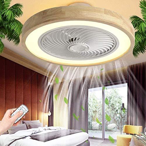 Ventilador De Techo Silencioso Con Luz De Techo LED Regulable Con Control Remoto Fan De Madera Lámpara De Techo Ventilador Moderno Iluminación Comedor Dormitorio Sala De Estar Habitación Infan
