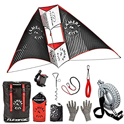 Flexifoil Camera Kite . Adults , Older Kids Beach Summer Trick Kites , Outside Stunt Toys , Sport Games