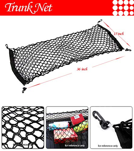 LT Sport 36'x15' Double Layer Envelope Elastic Nylon Rear Trunk Cargo Net Storage Mesh
