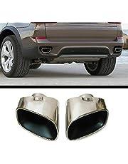 Autohobby 27 2 x doble tubo de escape silenciador tubo de escape deportivo de acero inoxidable cromado para X5 E70 2006-2013 X5 E53 2000-2007