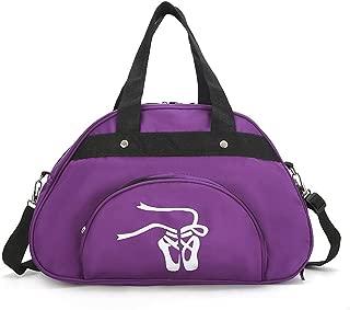 WEISIPU Nylon Dance Duffle Bag - Girls Garment Shoe Dance Sports Bags Ballet Slippers (Purple)
