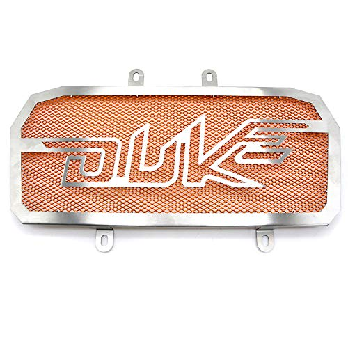Motorrad 390DUKE Grill Schwarz Schutz-Abdeckung Schutz Kühlerschutz/Fit for K.T.M Duke 390 200 2013 2014 2015 2016 2017 (Color : Orange)