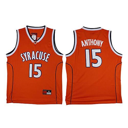 XSJY Gli Uomini di Pallacanestro Jersey - NBA New York Knicks # 15 Anthony università Edition Swingman Jersey, Abbigliamento Sportivo, Unisex T-Shirt Senza Maniche,B,S:165~170cm/50~65kg