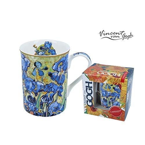 Carmani - Taza clásica decorada con Vincent Van Gogh 'Lirios' 350ml