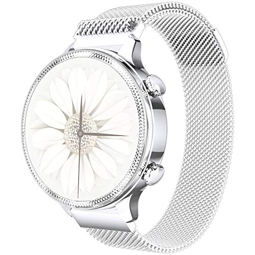 PHIPUDS Reloj Inteligente Mujer, Smartwatch Hombre con Monitoreo del (Pulsómetro/Cardíaco/Sueño) Reloj IP67 Impermeable con Podómetro Caloría GPS, Relojes con Despertador y Cronómetro para iPhone