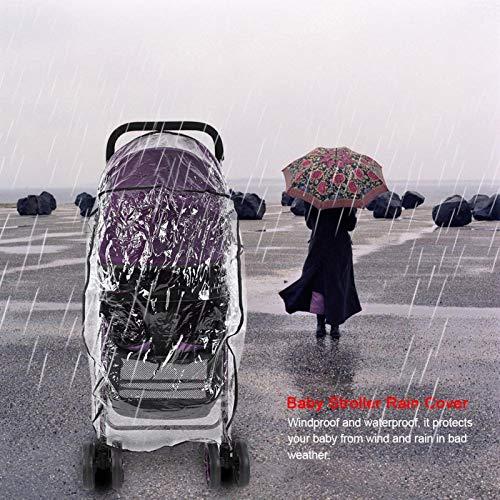 PVC Strong Durable Baby Kinderwagen Regenschutz, Buggy Regenschutz, Dick für Home Baby Spaziergänge