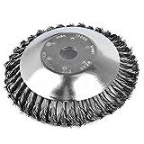 Cepillo redondo para desbrozadora, cónico, desmalezadora, 200 x 25,4 mm, cepillo profesional para malas hierbas, de acero