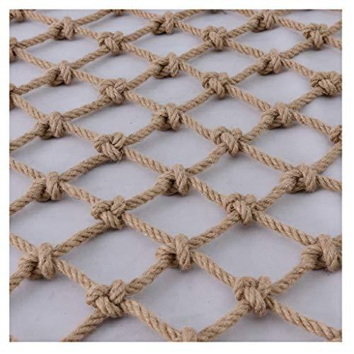 Sicherheitsnetz Outdoor Kletternetz Hanfseil Netz Stabiles Mesh Material für Klettern Schutz Hängematte Party Dekoration Schutznetz Spielplatz Schutznetz (Größe: 2 x 4 m)