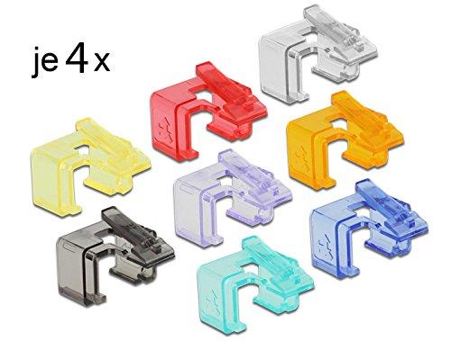 DELOCK Netzwerk RJ45 Reparatur Clip Starter Set (32er Pack)