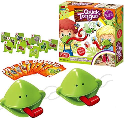 Tongue Spiel Catch Bug Frosch Desktop Brettspiel Gieriges Chamäleon Frisst Mücken Zungenauswurf Karte Outdoor Kartenspiel Party Artefakt