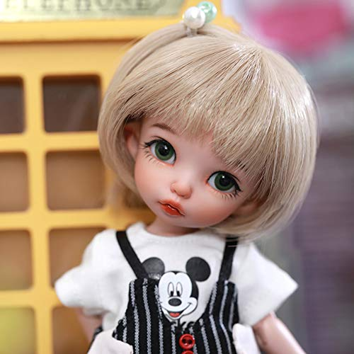 ZDD BJD Doll 1/8 SD Dolls 5.9 Inch Ball Jointed Doll DIY Toys with Full Set Clothes Shoes Wig Makeup, Best Gift for Girls, Can Be Used for Collections, Gifts, Children's Toy