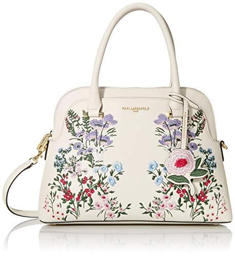Karl Lagerfeld Paris Penelope Dome Satchel, Floral White