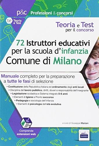 72 istruttori dei servizi educativi per la scuola dell'infanzia nel Comune di Milano