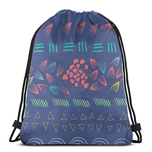 Zusammenfassung Aztec Purple Print Kordelzug Rucksack String Bag Sackpack Sport Athletic Gym Sack Männer Frauen Kinder 14,2 x 16,9 Zoll