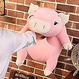 Plüschtiere 40-75cm Schwein Gefüllte Puppe liegend Plüsch Piggy Spielzeug Tier Weiche Plüsch Handwärmer Kissendecke Kinder Baby Tröschendes Geschenk ( Color : Pink eyes open , Height : About 40cm )