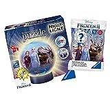 Ravensburger Puzzle 3D para niños, diseño de Frozen 2 + Disney Frozen 2, bola de...