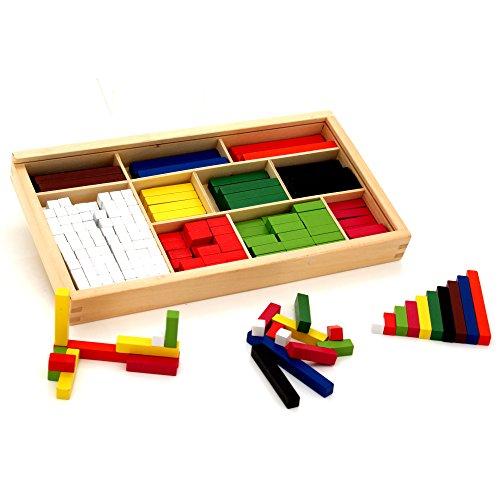 VIGA - Rechenstäbchen-Set (Cuisenaire-Stäbchen) aus Holz