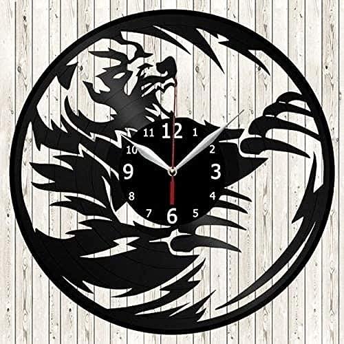 Disco de Vinilo Reloj de Pared decoración Hecho a Mano Colgante de Pared decoración del hogar Adornos Estilo Disco de Vinilo Reloj de Pared Arte Colgante de Pared Regalo de cumpleaños